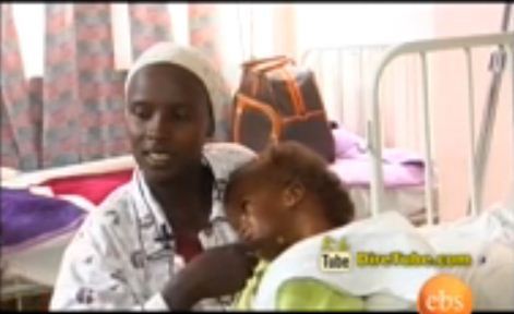 A free medical service eases the suffering of a baby girl