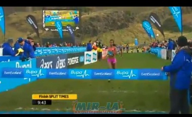 Genzebe Dibaba wins Women's 3km Bupa Great Edinburgh XC 2013