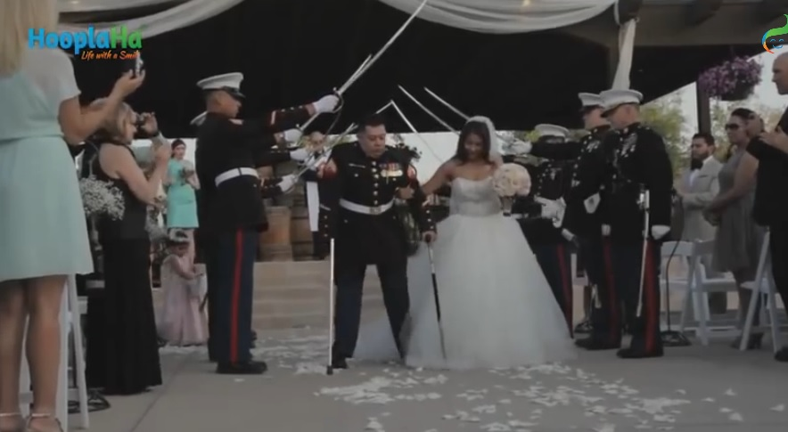 Amazing Video - Lost both Legs and his Right Arm Marine Gets Dream Wedding