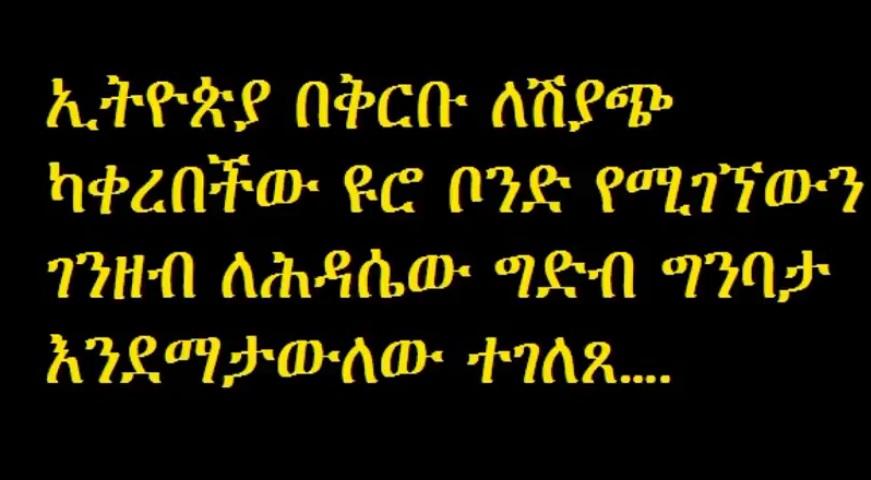 Ethiopia says bond will not finance GERD