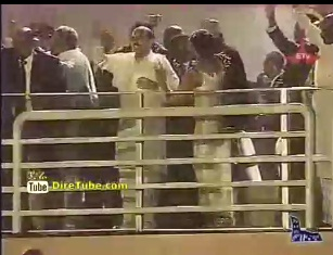 PM Meles Zenawi and First Lady Azeb Dancing