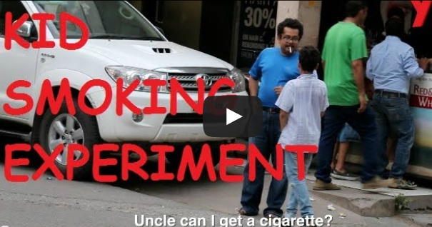 Kids Ask Strangers For Cigarettes