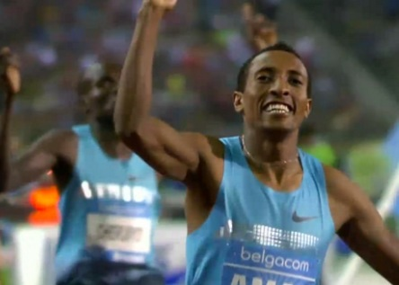 Mohammad Aman Wins 800m Men's Race Brussels - 6 September 2013
