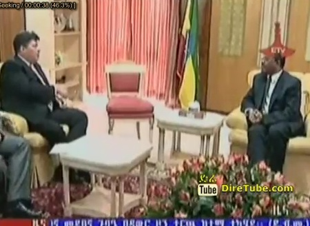 African Spokes Person for Russian President Meet with PM Hailemariam Desalegn