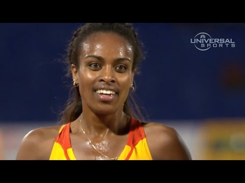 2014 Continental Cup in Morocco Genzebe Dibaba wins 3000m