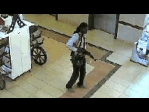 Footage show the moment attackers entered the Westgate mall in Nairobi