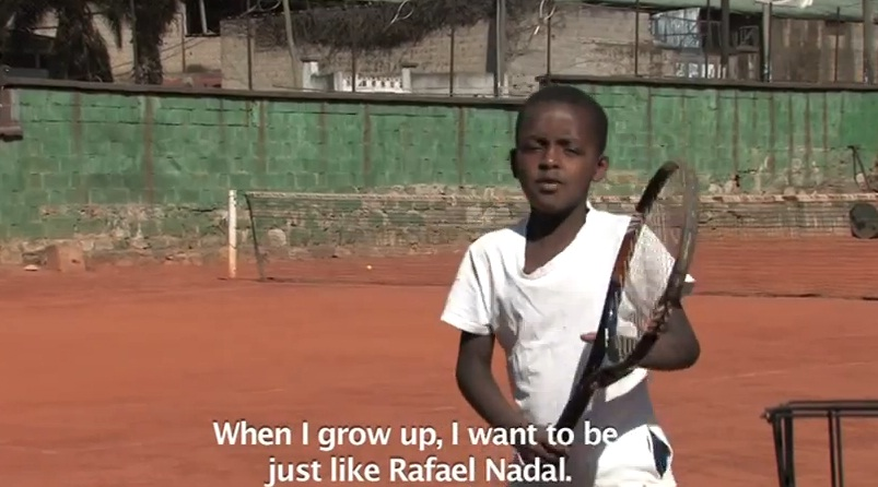 Young Dreams from Ethiopian Kids in Tennis Sport