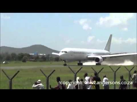 Record short takeoff by a 767 300 in Arusha Tanzania