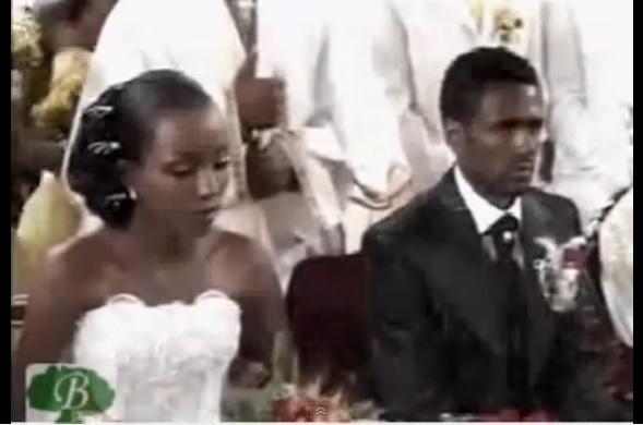 Athlete Tirunesh Dibaba's & Sileshi Sihine  Wedding Ceremony