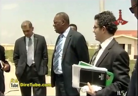 CAF president Issa Hayatou take a visit sport center in Ethiopia