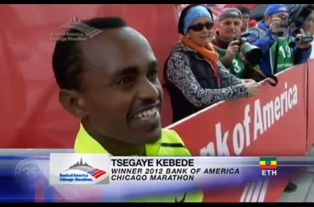 NBC 9 - A Must Watch Interview with Tsegaye Kebede, Chicago Marathon Winer