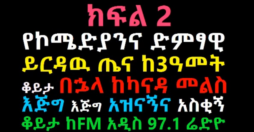 Comedian Yirdaw Tenaw Entertaining Interview with FM Addis Part 2