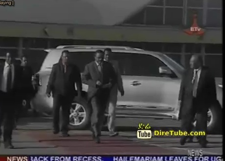 PM Hailemariam Leaves for Uganda to Attend 50th Independence Day