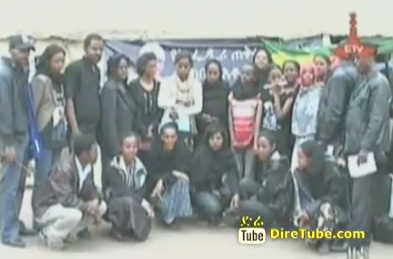 Students sponsored by PM Meles Zenawi paid tribute