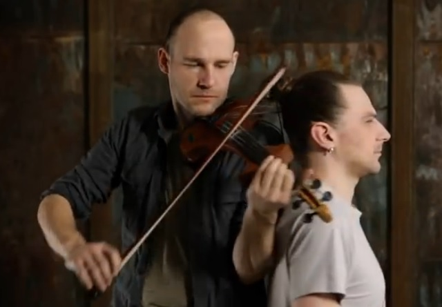 A Lithuanian-born artist turned his own hair into violin strings
