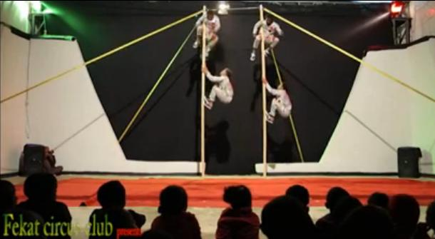 Ethiopian Pole Circus Act by Fekat Club