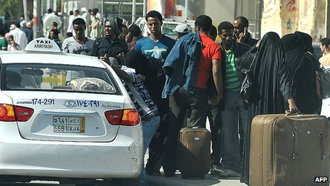 Ethiopians Protesting on the Streets of Saudi