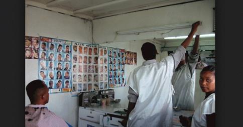 Customers Flock To Ethiopian Barber's Shop