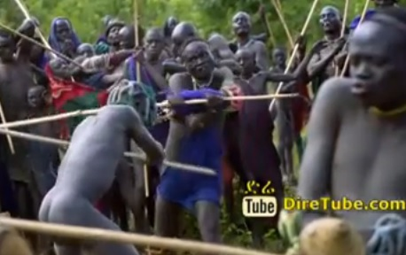 Donga Fight of the Suri of Ethiopia