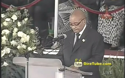 President Jacob Zuma of South Africa Speech at Meskel Square