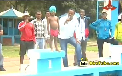 Ethiopian 2 Years Old incredibly talented Swimmer