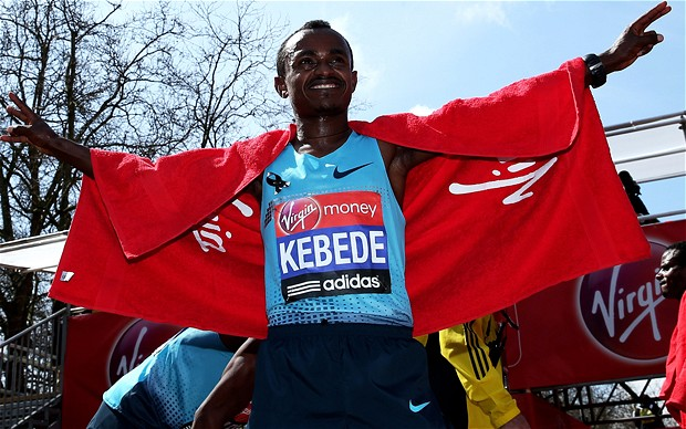 Tsegaye Kebede of Ethiopia wins London Marathon 2013