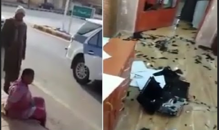 Ethiopian Maid Locked by Sponsor Smashes Office