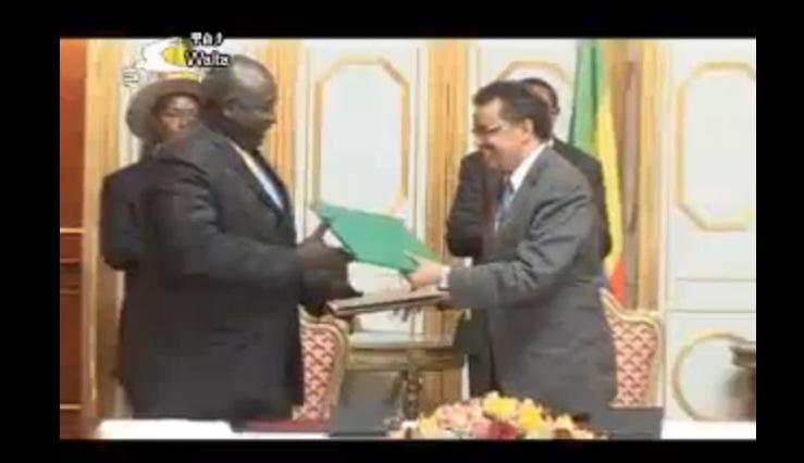 Signing Ceremony of MoU between Ethiopia and Uganda