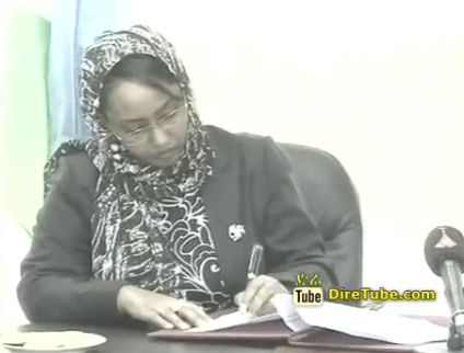 News in English - Ethiopia and Djibouti sign moue to collaborate on women, children and youth issues