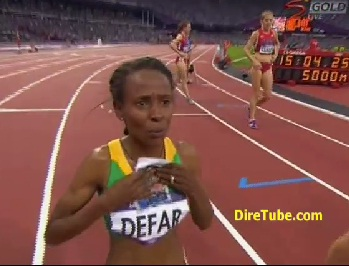 Meseret Defar Takes the Gold in Women's 5000M