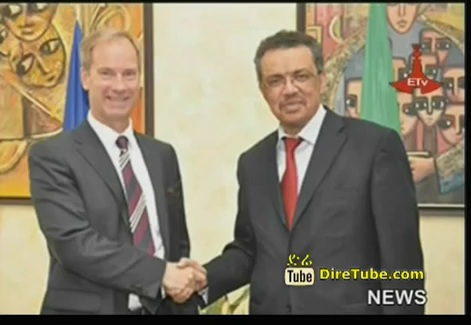 Dr.Tedros Meets with Permanent Chair of EU Peace and Security Committee