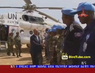 Three Ethiopian Peace Keeping Forces in Darfur received Medals