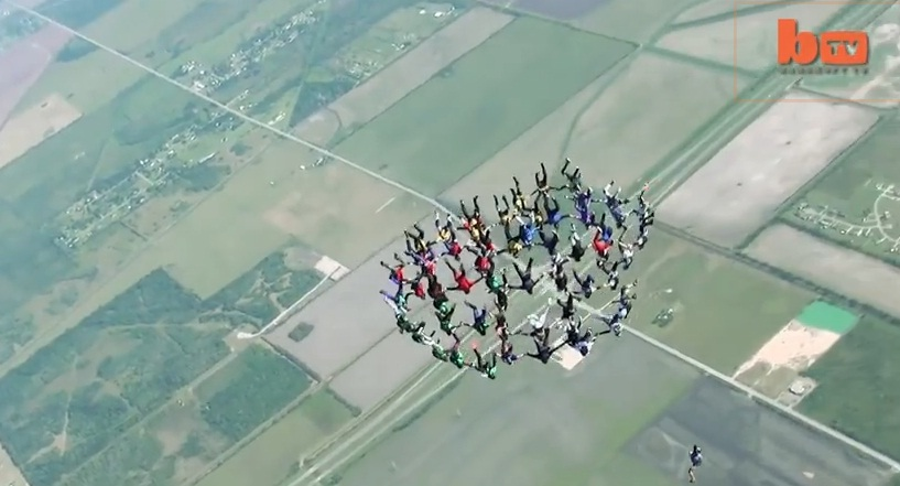 Skydivers Complete World Record Jump