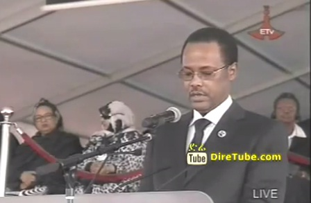 Kuma Demeksa Speech on Meles Funeral at Meskel Square