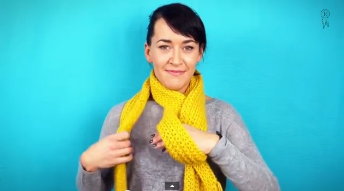 Cool Way to Tie a Scarf - Twisted Loop Knot