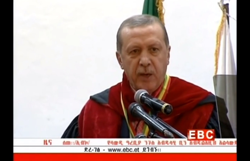 President Erdogan Receives an Honorary Doctorate From Addis Ababa University