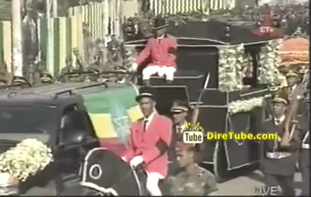The Body of Meles Zenawi Moves from National Palace to Meskel Square - Part 3