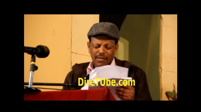 Artist Teferi Alemu Reading a Funny Story Part from New Book [Merek]