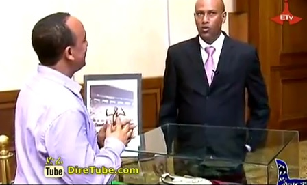 Japan's PM Shinzo received a Gift from the Son of Olympic Legend Abebe Bikila