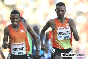 Ethiopians dominate 5000m, Kenenisa beaten by His Brother Tariku Bekele
