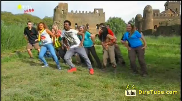 Foreign Tourists Amusing Performance at the Gondar Audition