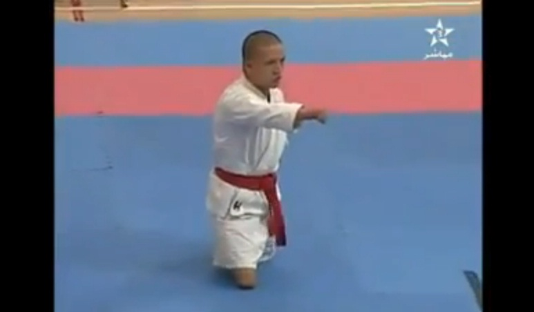 Playing karate without Legs and Arms