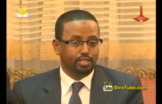With the Young Ethiopin Minister - Interview