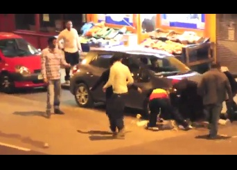 Habesha Fight with bottle outside Ethiopian bar in London