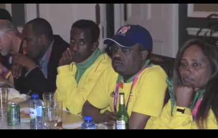 Dinner for Ethiopian Paralympic Team