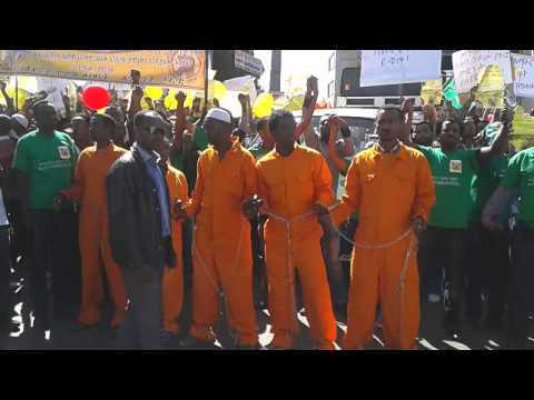 UDJ Hold Demonstration In Addis Ababa Sept 29/2013