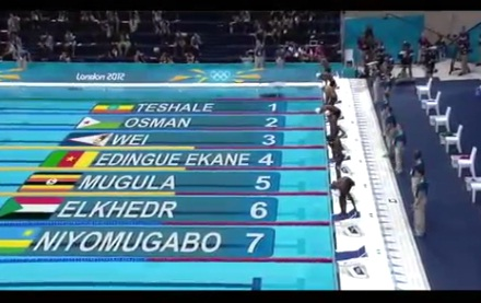 Ethiopian Mulualem Girma, 50m Freestyle Swimming Relay