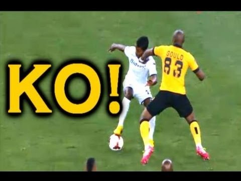 Thats a knockout! A South African player punches an opponent in the face next to the ref, doesnt even get booked