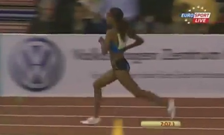 Meseret Defar wins 3000m at 2013 IAAF Indoor Karls
