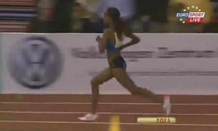 Meseret Defar wins 3000m at 2013 IAAF Indoor Karls